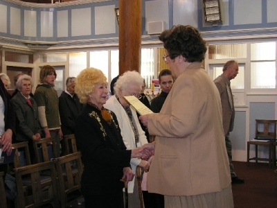 New member Phyllis and Church Leader Anne